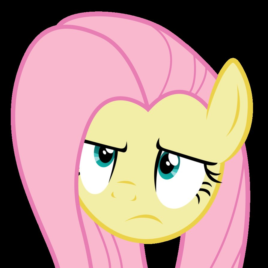 fluttershy unamused face by yanoda-d4xfn