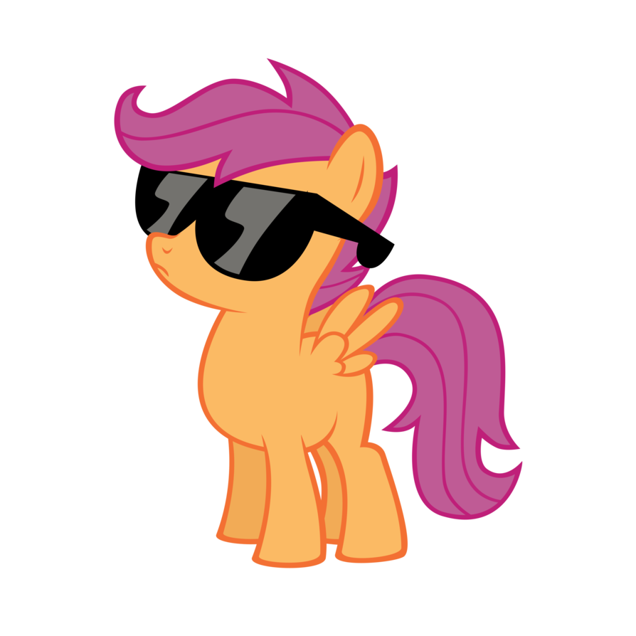 scootaloo   deal with it by austiniousi-