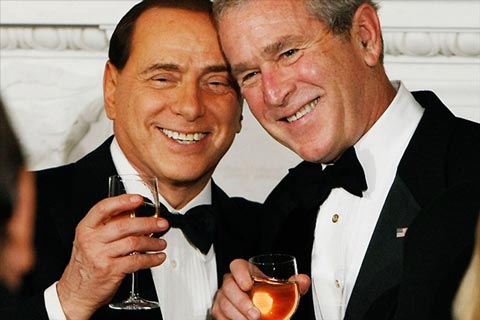 george bush silvio berlusconi01