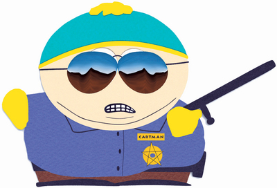 Cartman Cop silly police officer stupid