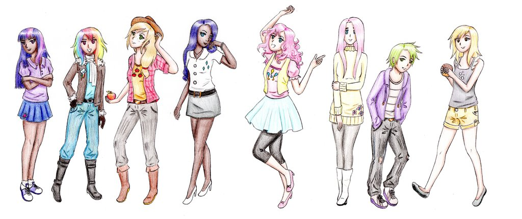 mlp as humans by mahnati-d4gzbhe