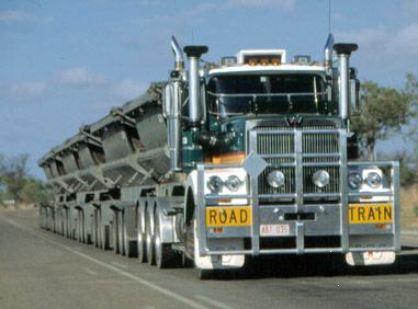 Road Train On Road