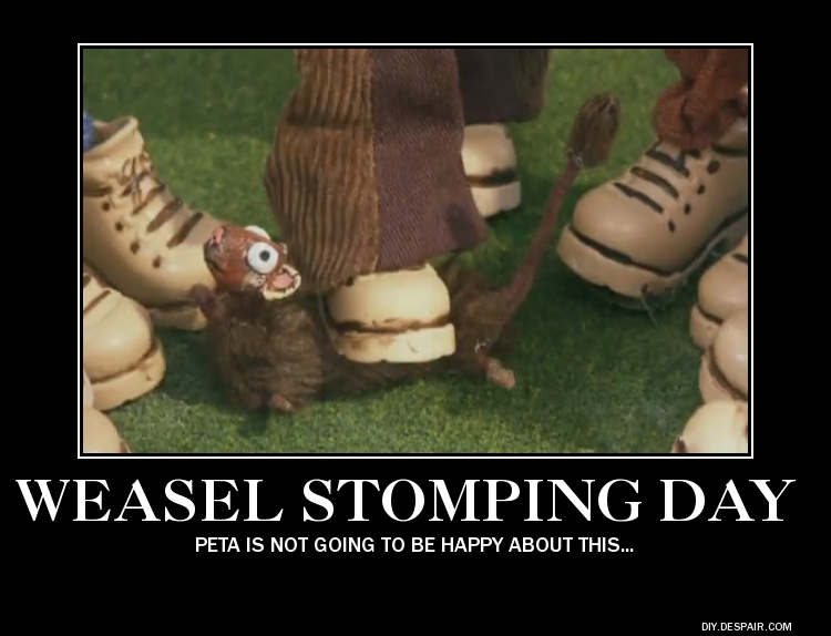 weasel stomping day by kah0922-d5fh9z7