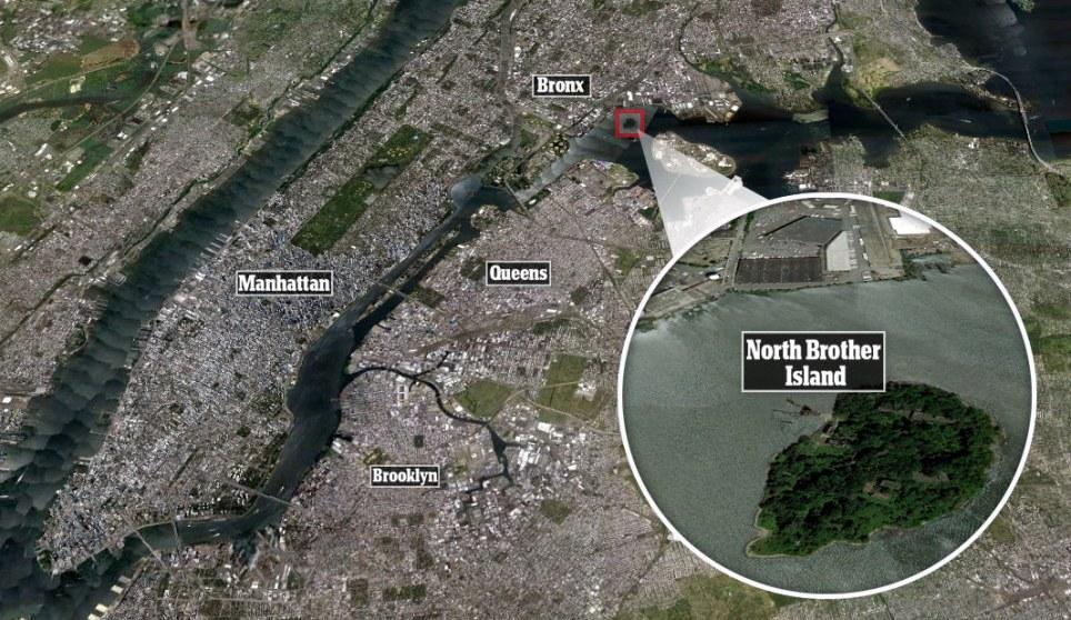 North Brother Island Off New York