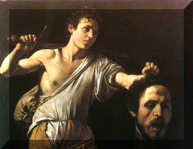 caravaggio david and goliath w