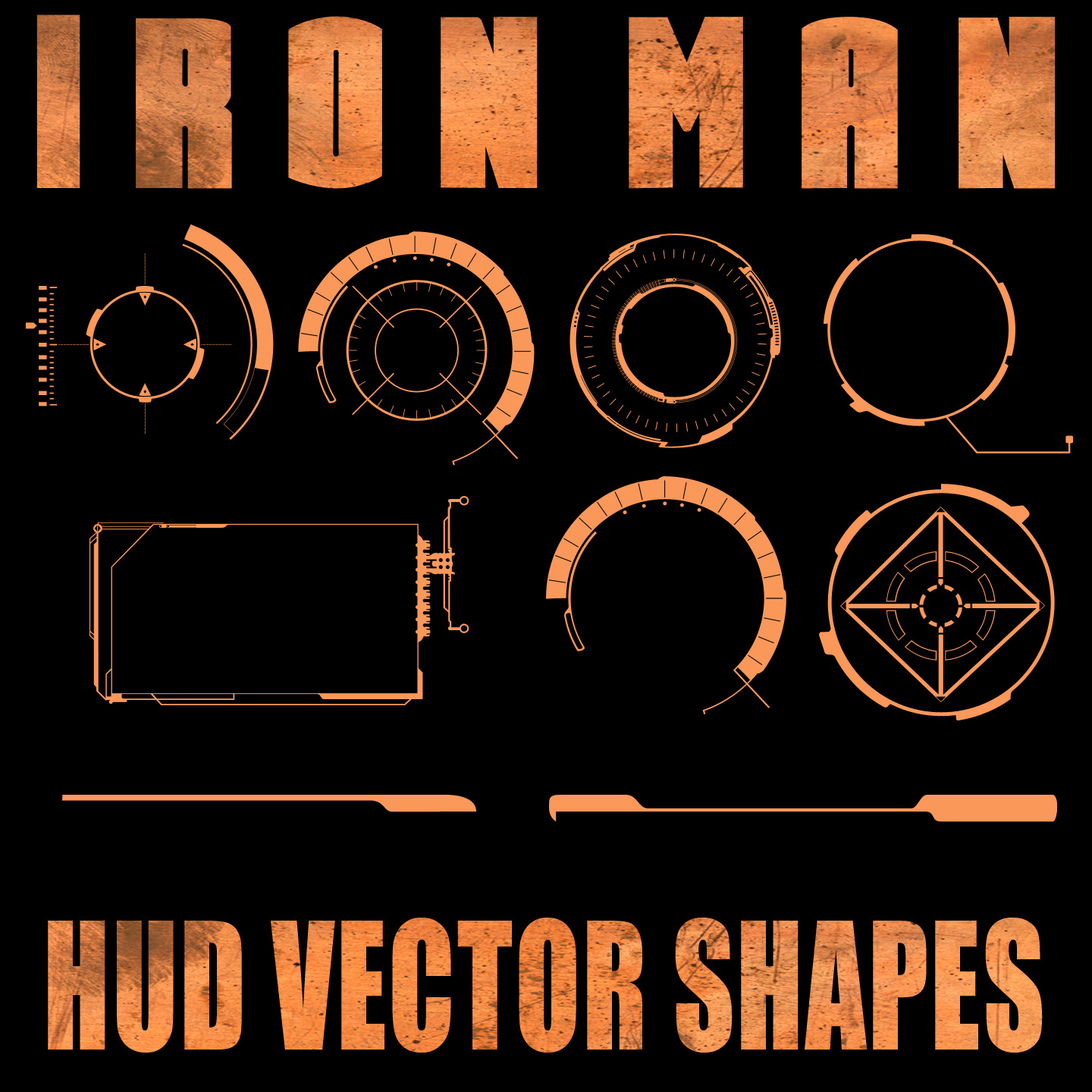 Ironman HUD Shapes for PSP by Retoucher0