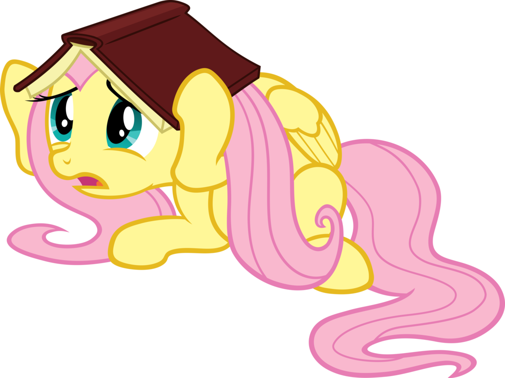 frightened fluttershy vector by scrimpeh