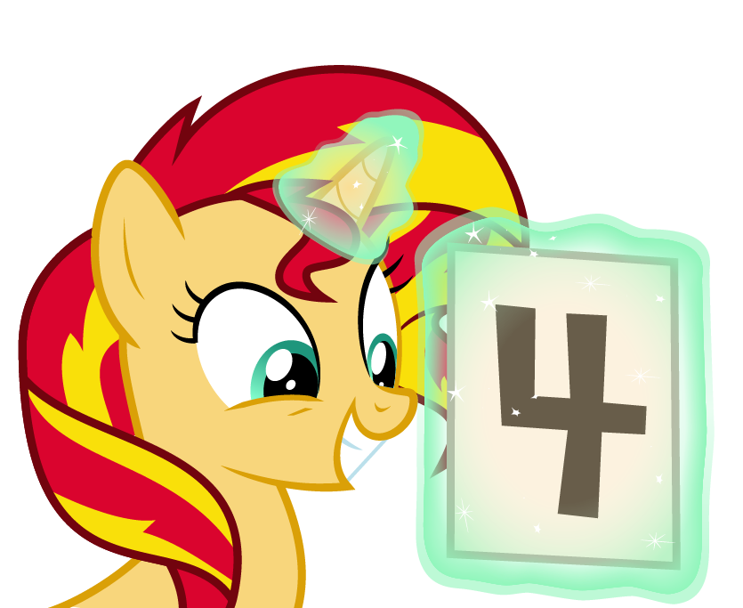 sunset shimmer is excited for rainbow ro