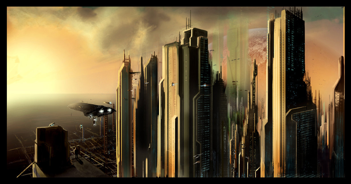 Futuristic City Scape by GenerationGX