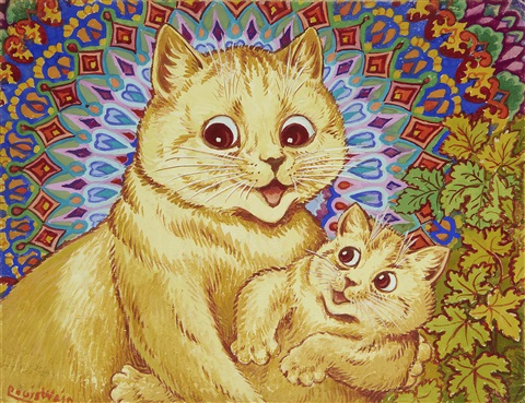 louis-wain-mother-with-kitten