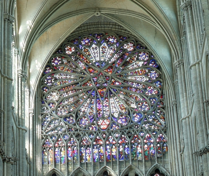 amiens cathedral north stainedglass smal