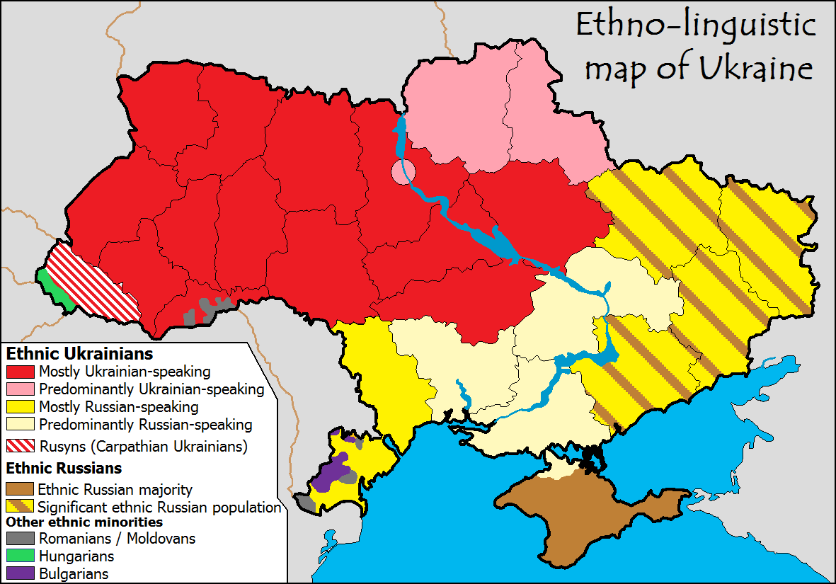 Ethnolingusitic map of ukraine