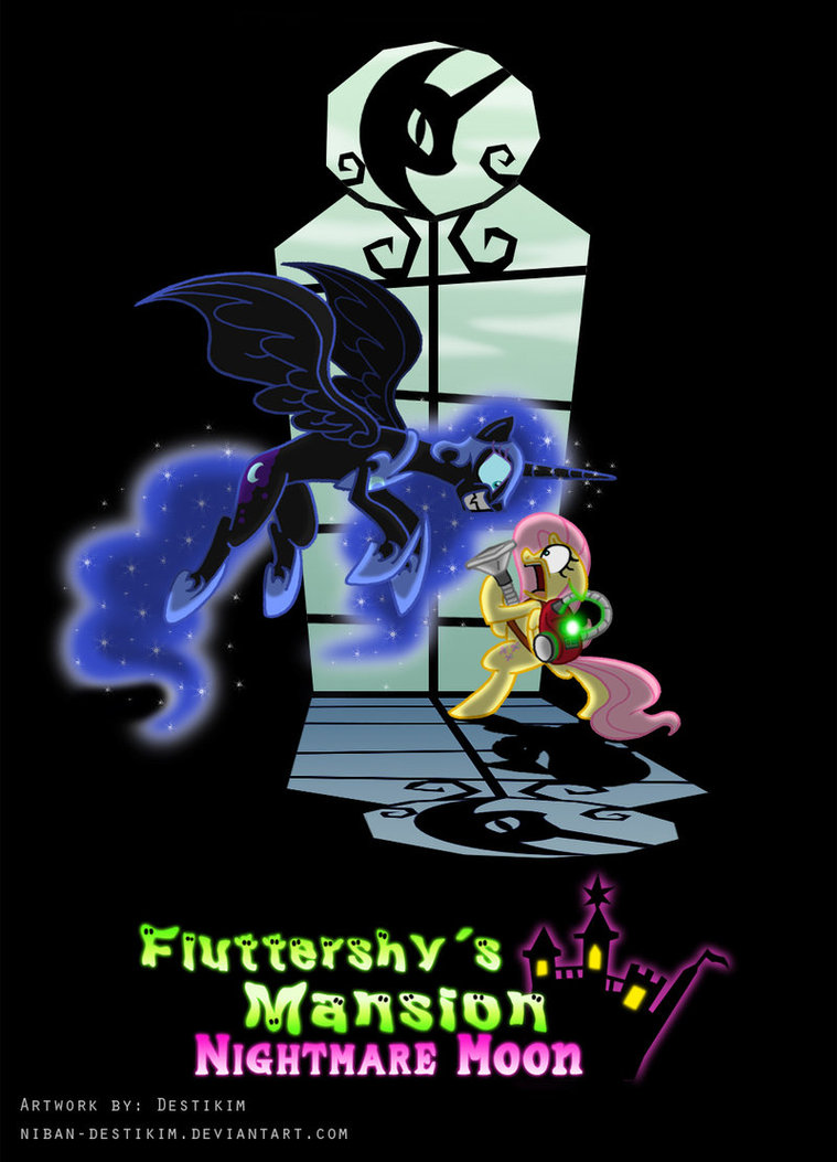 fluttershy s mansion   nightmare moon by