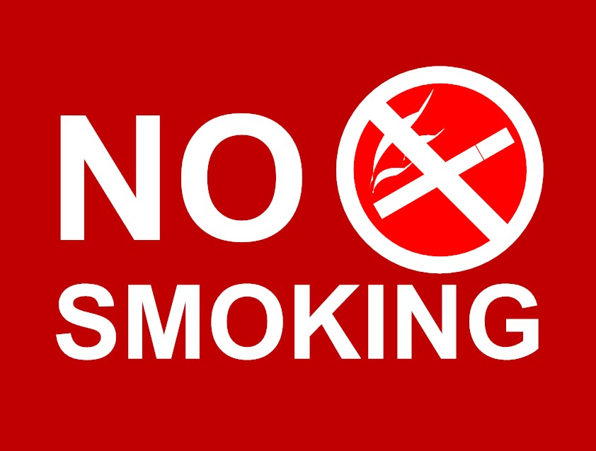 red no smoking sign l