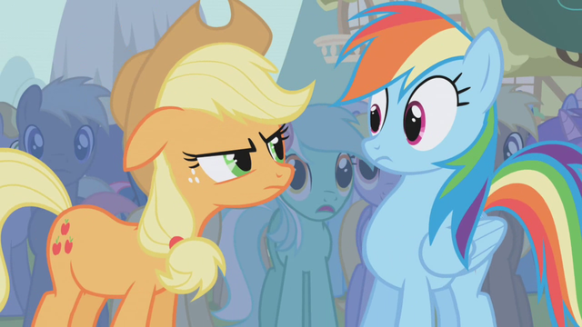 640px-Applejack mad at Rainbow Dash S1E0