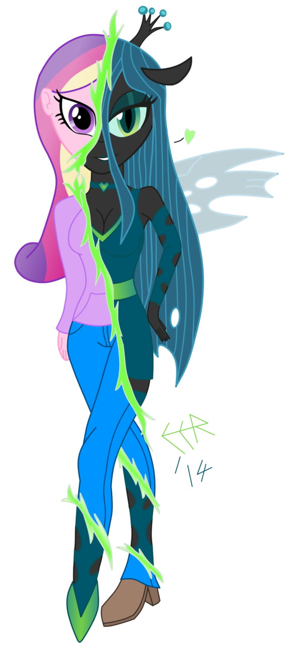 queen chrysalis  equestria girls style b