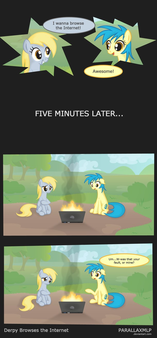 derpy browses the internet by parallaxml