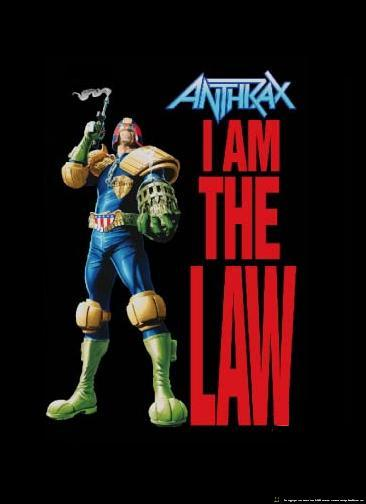 anthrax poster flag i am the law 001