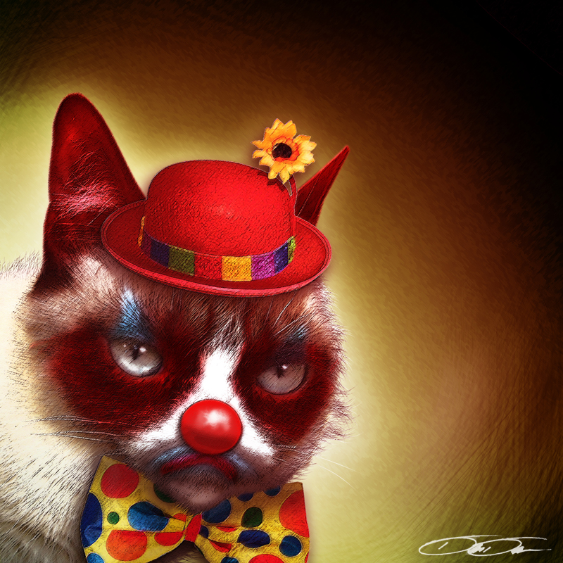 Grumpy Cat Clown by Dion1