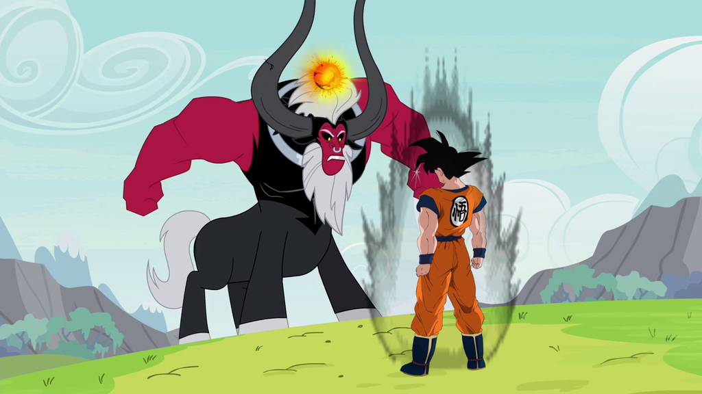dbz  mlp goku vs tirek by shadowhedgehog