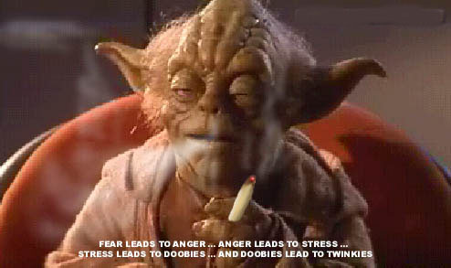 yoda smoking a joint