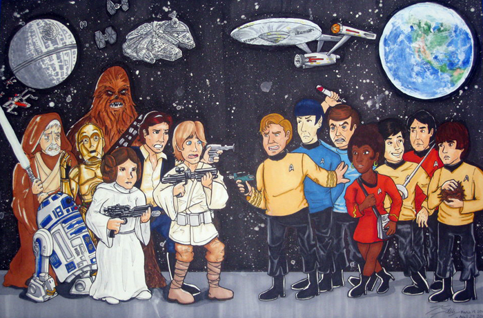 Star Wars vs  Star Trek by Hapo57