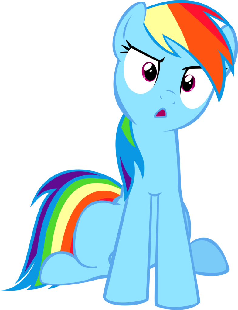 rainbow dash confused  what the hay  by