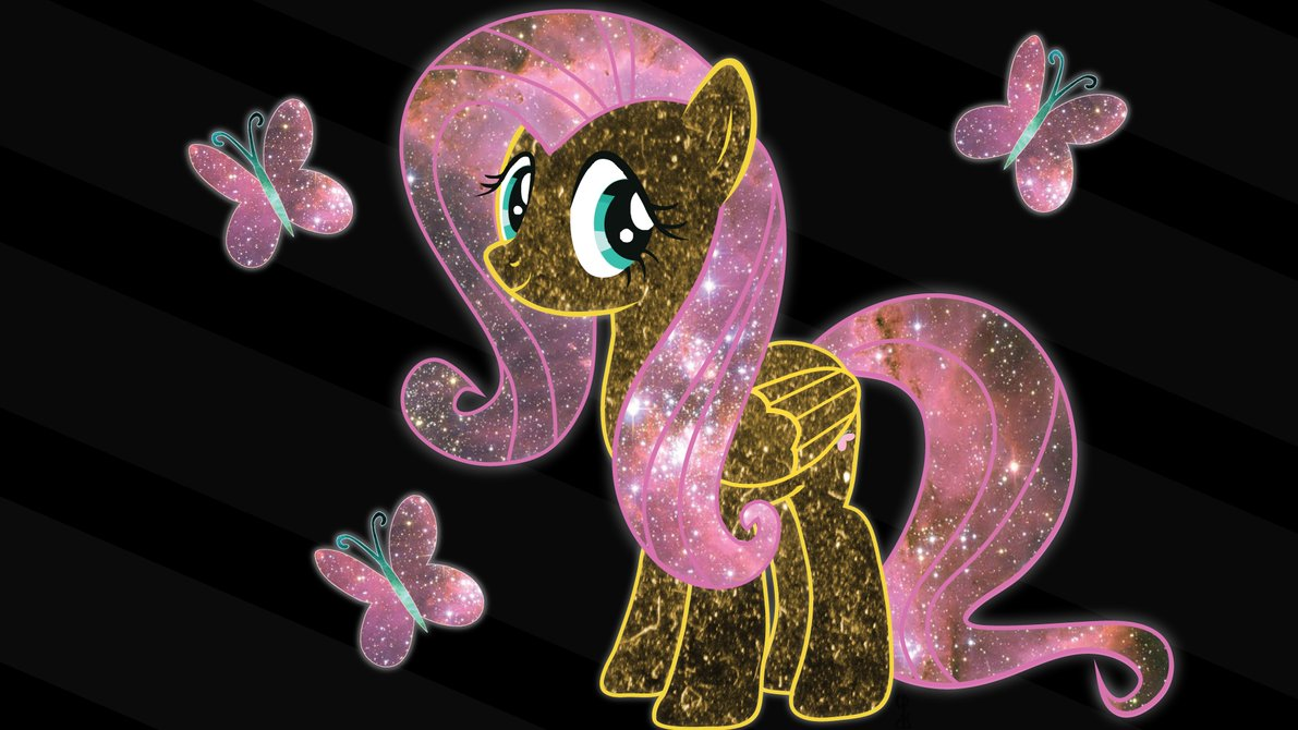 cosmic fluttershy wallpaper by chingypan