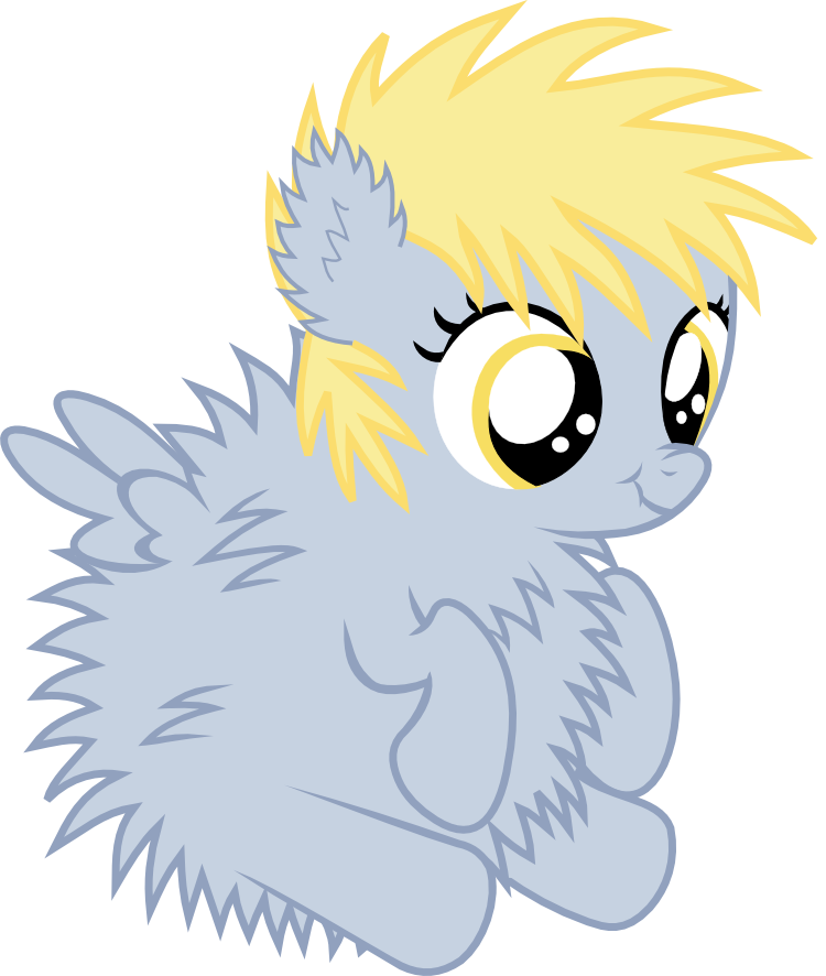 fluffy derpy hooves by xderpyx-d4xorg4