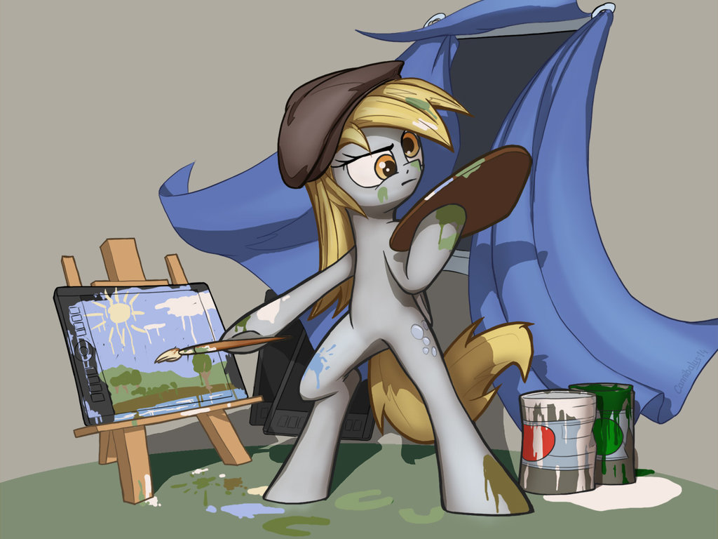 derpy drawing on a tablet by cannibalus-