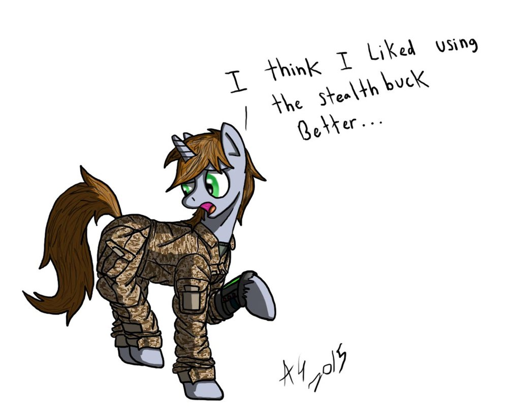 littlepip discovers camo by aviatorgriff