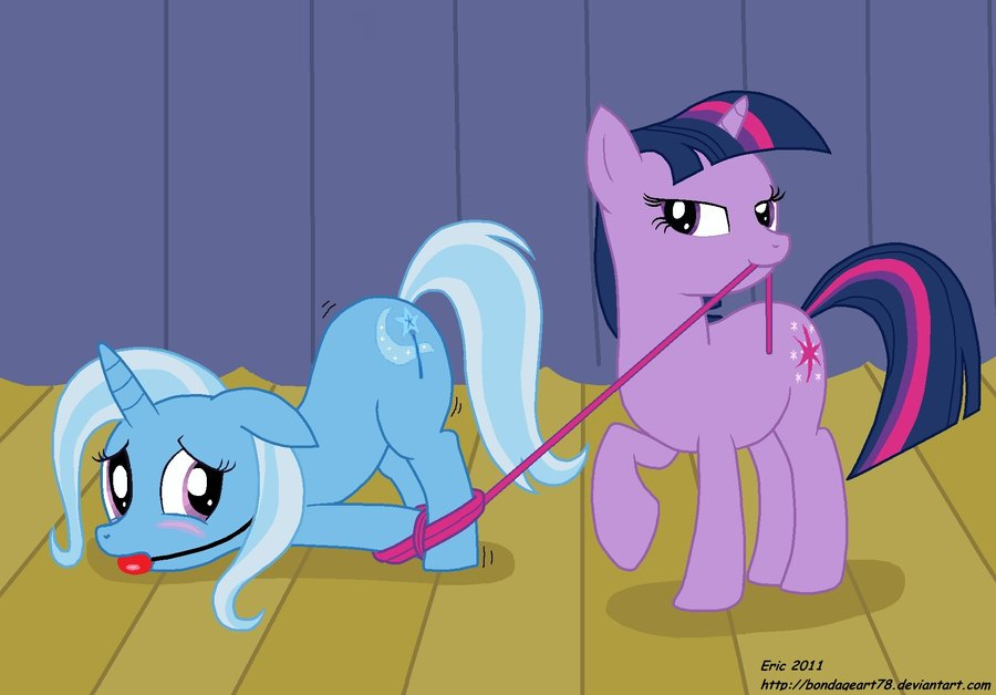 t46e53b twilight tying up trixie by bond