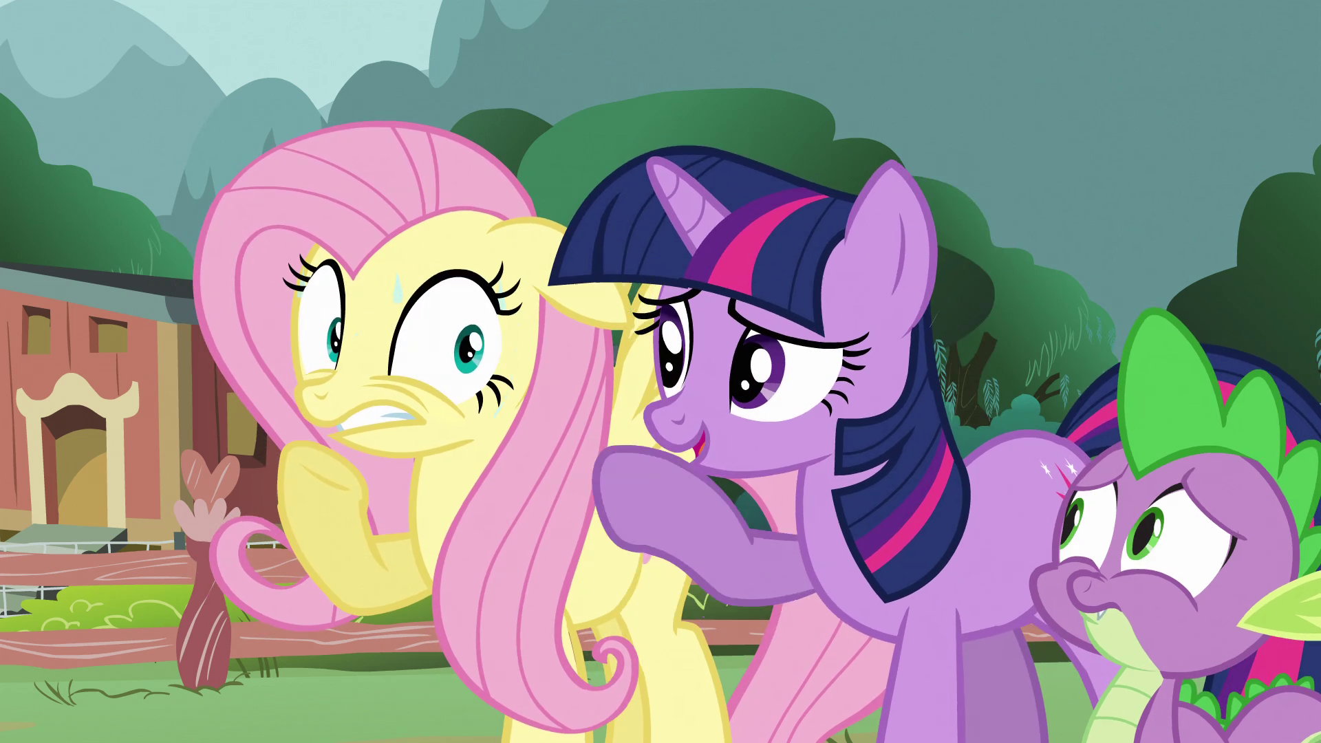 Fluttershy worries for her woodland frie