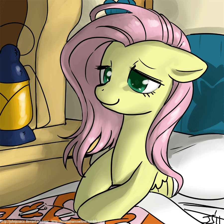 good morning fluttershy by johnjoseco-d4