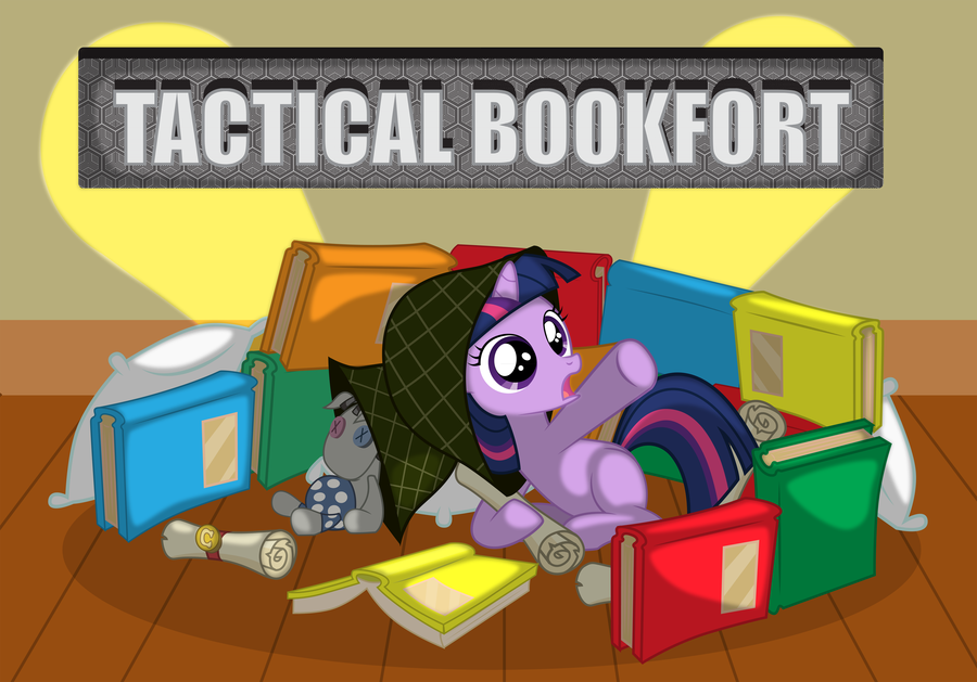 tactical bookfort by spacekingofspace-d5