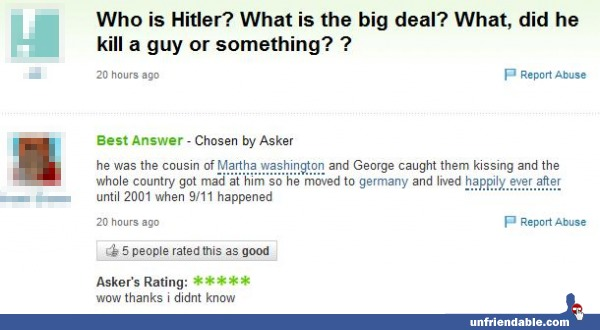 unfriendable.com Hitler