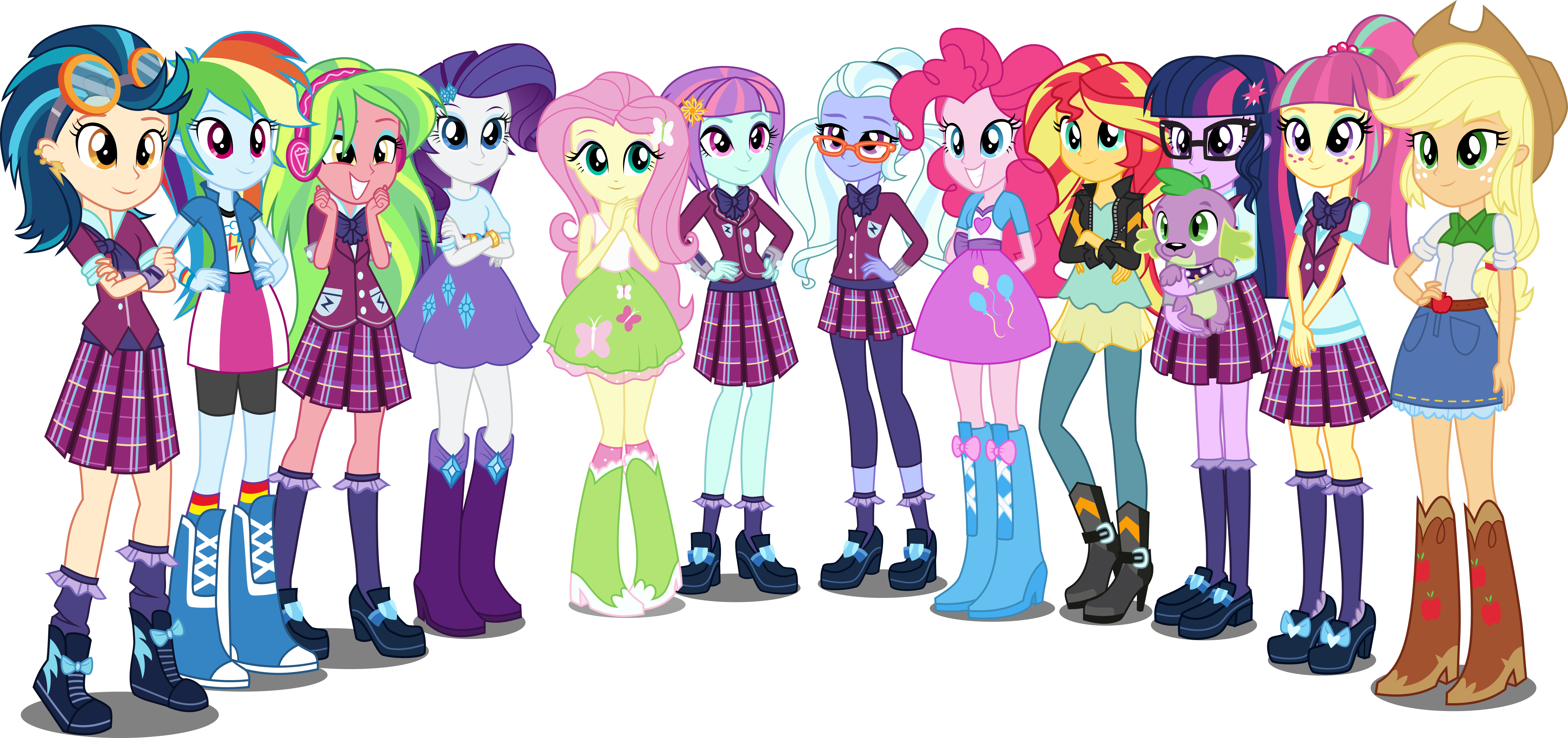 eqg mane eight and shadow five by xebck-