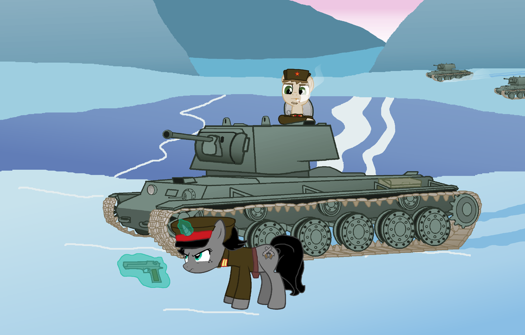 kv 1 in the battle of the ice lake by de