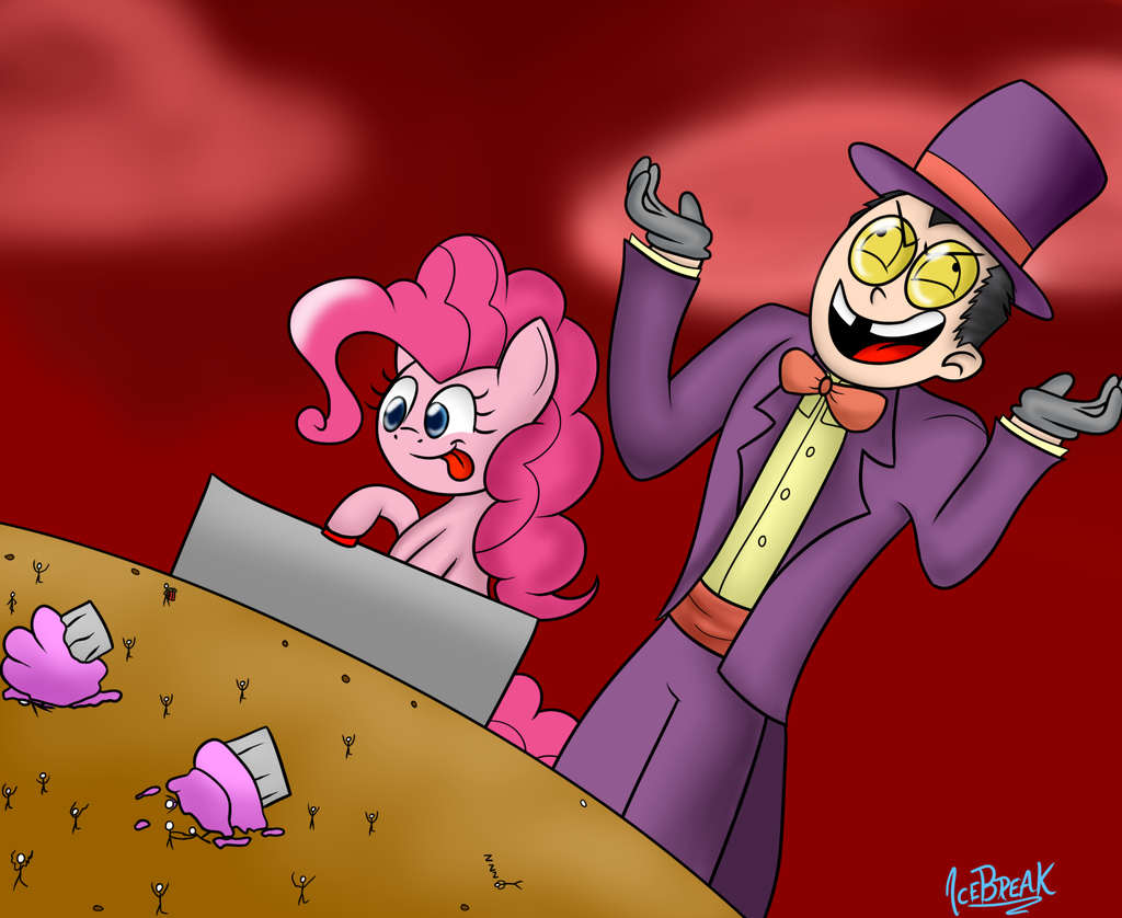 the warden and pinkie pie by icebreak23-