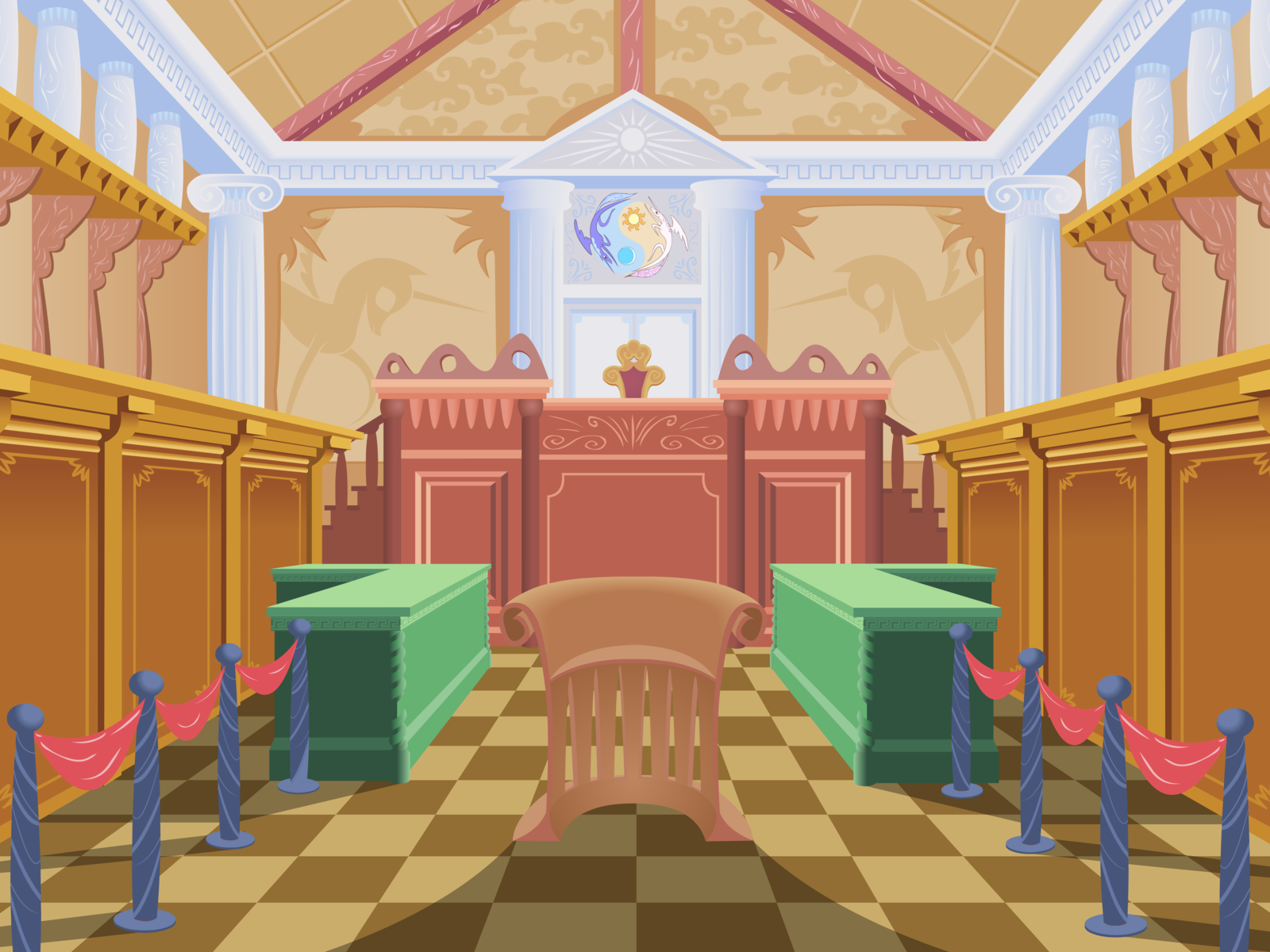 mlp fim   courtroom by sigmavirus1-d4whk