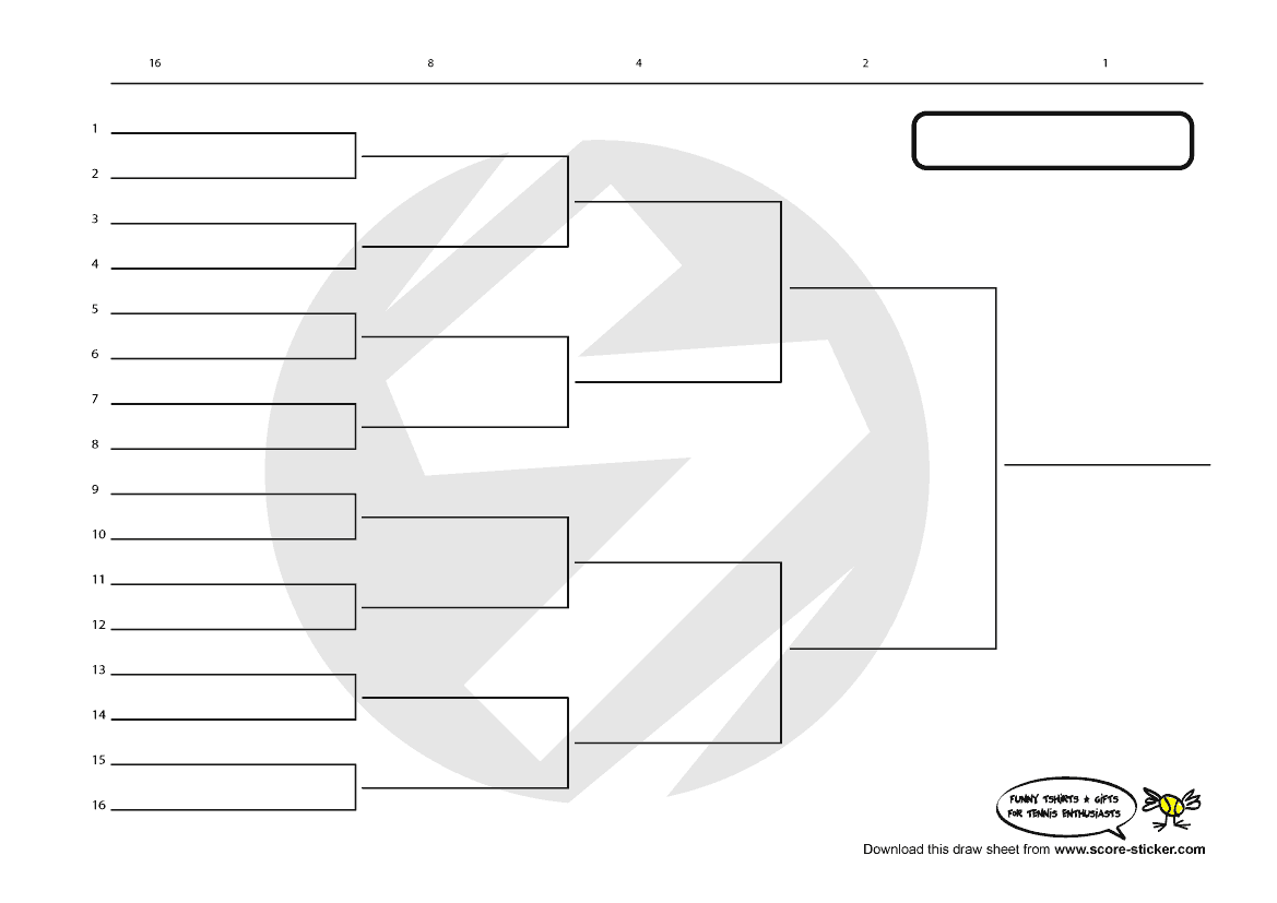 knockout tournament template