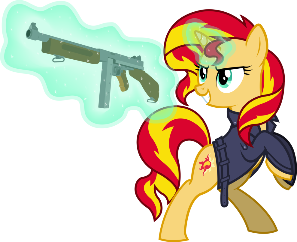 sunset shimmer  in foe  by outlawedtofu-
