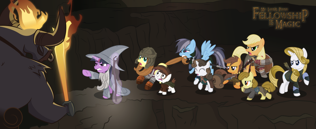 my lotr pony  first look by shadowdark3-