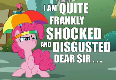 pinkie pie is shocked and disgusted by s