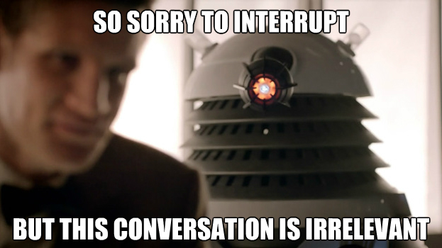 doctor who irrelevant meme