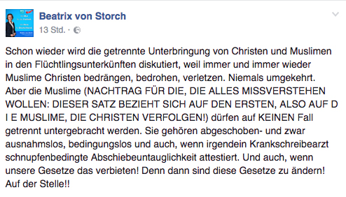 Beatrix von Storch Facebook