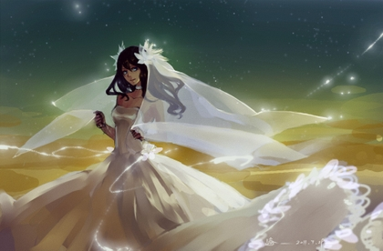 blue eyes brown wedding dress skyscapes