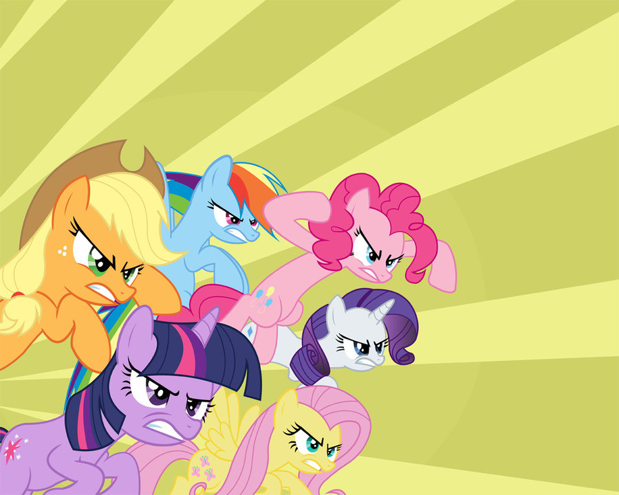 mane 6   angry wallpapers by joemasterpe