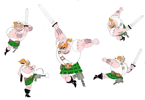Scotsman Swashbuckling by Nes44Nes