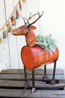 Reclaimed-Metal-Barrel-Deer-Beverage-Tub
